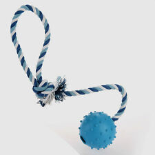 Rubber Ball Rope Chew Treat Non-toxic Pet Dog Puppy Cat Toy Training