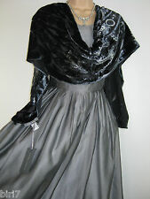 LAURA ASHLEY VINTAGE SILVER TAFFETA COCKTAIL / PARTY / CRUISE DRESS,8 (LABEL 10)