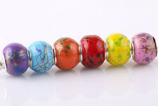 20P MURANO Lampwork mix charm Beads fit 925 silver European Bracelet Chain A#187