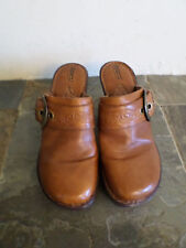 BORN Brown Slip On Shoes With 3.5 in. Heel Women's Size 8 (eur 39 )