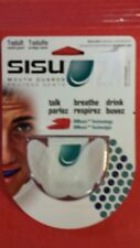 SISU 1.6 WHITE  AERO GUARD ADULT  MOUTH GUARD ROLLER DERBY LACROSSE FOOTBALL