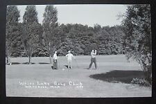 WHITE LAKE GOLF CLUB, Whitehall, Michigan RPPC postcard. Scenic Drive