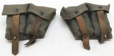 WWII Russian Mosin Nagant Field Grey Ammo Pouch Pair used E5199