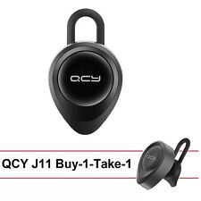QCY J11 Buy-1-Take-1 Music and Call In-Ear Bluetooth Headset (Elegant Black)