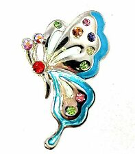 Butterfly Brooch Pin Vintage Retro Classic Crystals Art Deco Wedding Party Charm
