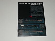 Nakamichi 580 Series Cassette Decks Ad, 1 page, 580M, 581,582 Articles