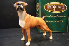 NATURECRAFT BEST OF BREED HAND PAINTED DOG CANINE BOXER DOG RED WHITE NC1238