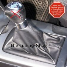 FOR MAZDA 6 BLACK GEAR GAITER GENUINE LEATHER CUSTOM MADE SHIFT BOOT COVER NEW