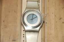 Swatch GM140 Womens Watch While Silver See Thur