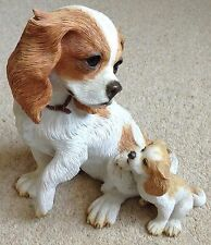 Rare Cavalier King Charles Spaniel with Puppy by Country Artists