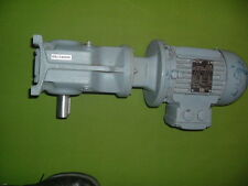 WEG 71-4 ELECTRIC MOTOR WITH SEW K37 AM71 GEARBOX RPM 1400/24 0.37-0.42 KW NEW