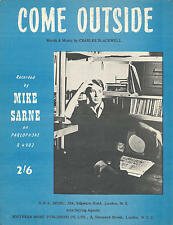 Come Outside - Mike Sarne - 1962 Sheet Music