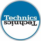 Technics 60662 PAIR Slipmat Moon 2 Blue/White High Quality Original / Brand New