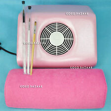 Nail Dust Collector Fingernail Cleaning Collector Collection Fan EU New 72P+H