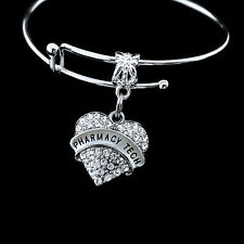 Pharmacy Tech bracelet   Best Jewelry gift Technician   Crystal heart style