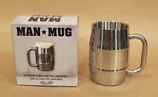 Man Mug • Stainless Steel • 16.9 Oz / 500 ml • Holds a Pint 'o Beer • ManMug.com