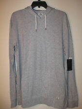 Quiksilver Long Sleeve Hooded Pullover NWT L Gray Cotton/Poly