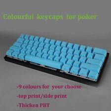 Colours Thicken  PBT Mechanical Keycaps for Gh 60,poker,poker 2,poker 3