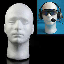 NEW EPS FOAM MALE MANNEQUIN STYROFOAM HEAD MODEL WIG GLASSES HAT DISPLAY STAND