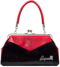 Sourpuss Devil Pinstripe BACKSEAT BABY PIN UP intrusioni BAG BORSA Rockabilly