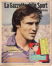 rivista LA GAZZETTA DELLO SPORT ILLUSTRATA ANNO 1981 N. 1 DANIEL BERTONI