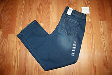 NWT Womens CALVIN KLEIN JEANS Slim Stretch Medium Wash Blue Pants Sz 4 X 30