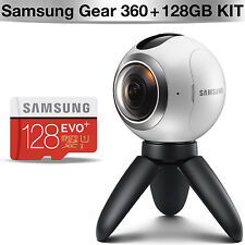 SAMSUNG GALAXY GEAR 360 VR CAMERA SM-C200 + Samsung EVO PLUS 128GB MicroSDXC Kit