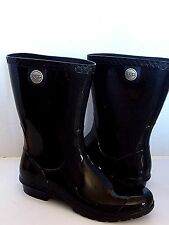 UGG SIENNA  Rain boots Black / Sheepskin insole US 7/ 38 New 1014452
