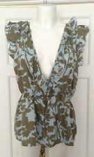 BNWT Noa Noa XL beautiful duck egg floral blouse RRP £59