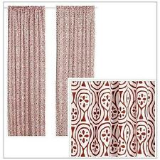 IKEA LAPPLJUNG Pair of Curtains, 2 panels, white / red, NEW New