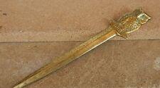 Vintage Brass Owl Letter Opener 17cm long .