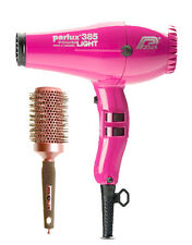 PARLUX 385 ROSA FUCSIA ASCIUGACAPELLI PowerLight Ceramic Ionic + GRATIS Brush + 2 NOZ