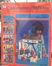 1978 Whitman Contemporary Playhouse - Press Out Dollhouse w/ Paper Dolls MISB