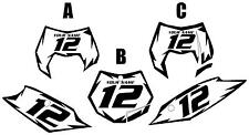 2011-2012 KTM 350SX-F Custom Pre-Printed White Backgrounds Black Shock Series