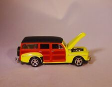 100% HOT WHEELS '48 FORD WOODY WAGON WITH HITCH RUBBER TIRE LIMITED EDITION!