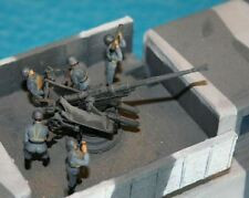 MGM 100-13 1/72 Resin WWII German 2cm Flak Operators in Action w/Life Jackets