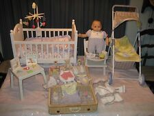 "AMERICAN GIRL BITTY BABY LOT DOLL, CRIB, STROLLER, CLOTHES & MORE ""LOOK"""