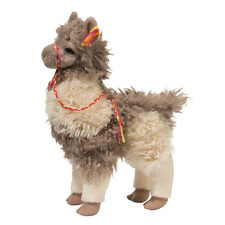 "ZEPHYR LLAMA Douglas Cuddle Toy 10"" stuffed TAUPE tan white animal alpaca"
