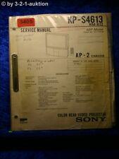 Sony Service Manual KP S4613 Color rear Video Projector (#3405)