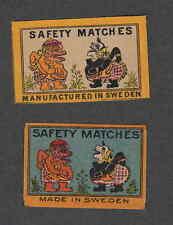 Ancienne étiquette   allumettes   Suède Marionnette 2