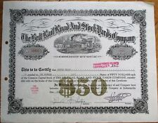 'Belt Rail Road & Stock Yards Co.' 1951 Railroad Stock Certificate - Indiana IN