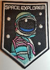 Astronaut Iron On Patch / Sew On Fancy Dress Badge Spaceman Space Explorer NASA