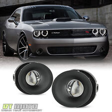 [Glass Lens] 2015-2016 Dodge Challenger Replacement Fog Lights Lamps w/ switch