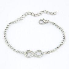 Infinity Armband Blogger Ewig Silber Armkette Armschmuck Eternity Unendlichkeit