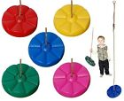 PLASTIC ROUND FLOWER MONKEY SWING SEAT - BUTTON DISC - CLIMBING FRAME ACCESSORY