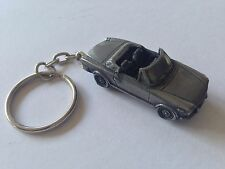 Fiat 124 Spider circa 1969 ref66  3D split-ring keyring FULL CAR