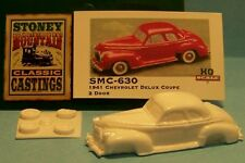 SMC-630 1941 Chevy Deluxe Coupe  HO-1/87th Scale White Resin Kit (unfinished)
