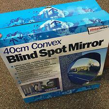 40 cm extérieur, garage, driveway convexe sécurité & blind spot miroir de pliage-Noir