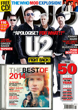 MOJO January 2015,U2 BONO, The WHO,Beck,Jack White,Robert Plant FREE CD