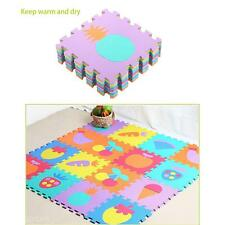Soft EVA Foam Lovely Animal Fruit Number Puzzle Carpet Baby Crawling Mat Games